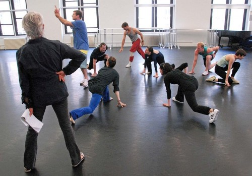 Twyla Tharp working with her dancers on Beethoven Opus - photo by Gene Feldman