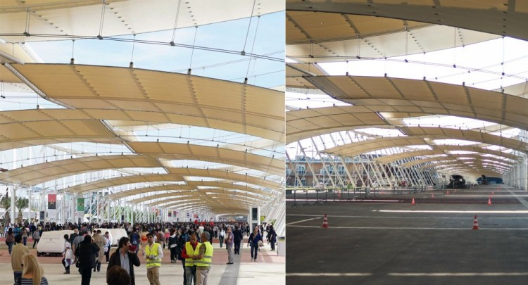 Expo 2015 and Expo 2016, before and after