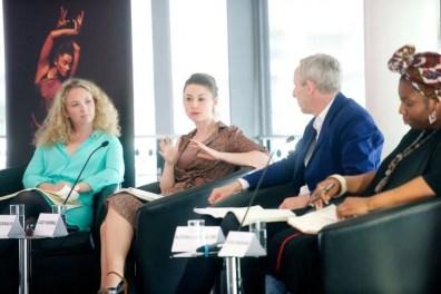 The Panel, Dance Umbrella - Big Dance debate (Tamsin Fitzgerald, Lucy Kerbel, Alistair Spalding and Vicki Igbokwe) - photo by Tom Simpson