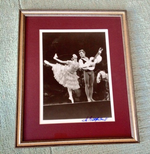 The signed photo of Baryshnikov... Most treasured possession