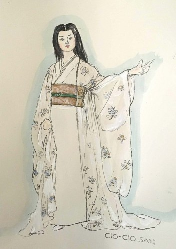 BOF Costume Sketch - Wedding Night Kimono