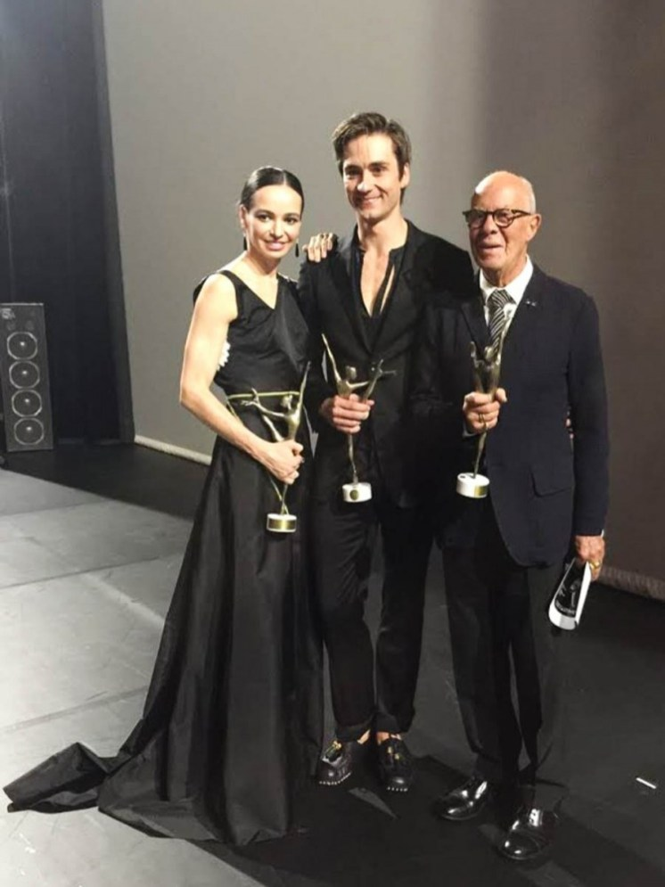 Diana Vishneva and Friedmann Vogel with Hans van Manen