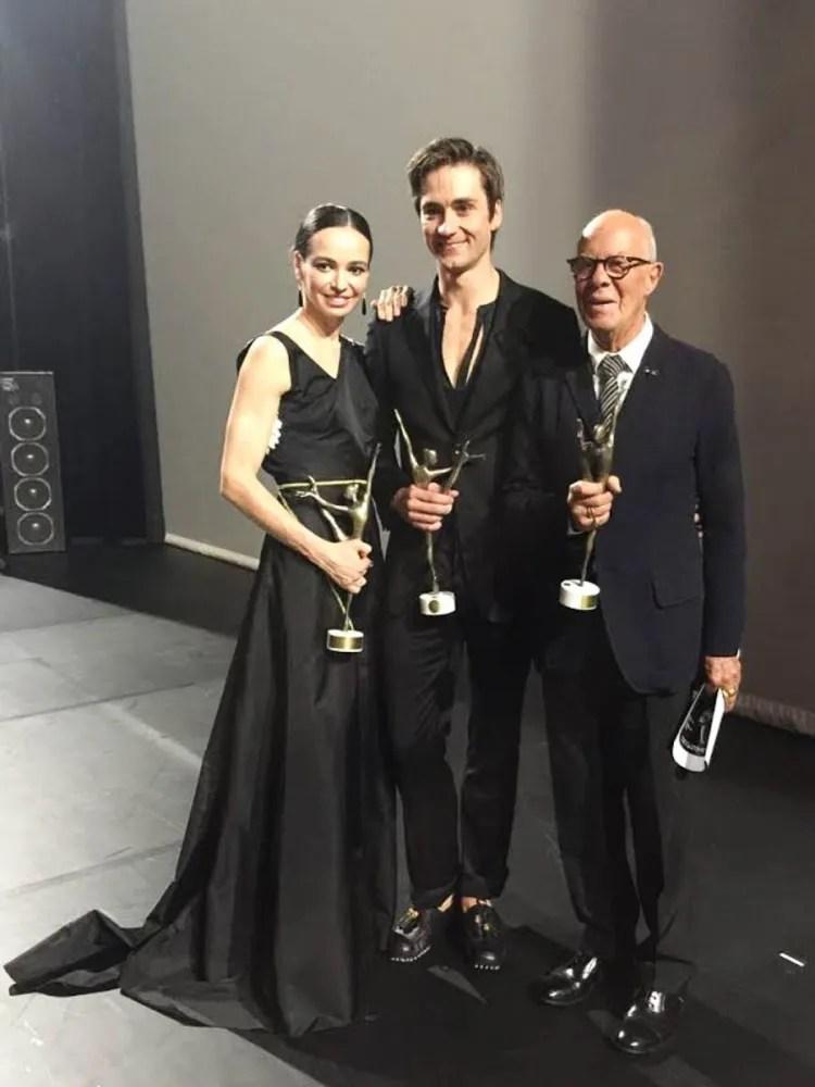 Diana Vishneva and Friedmann Vogel with Hans van Manen