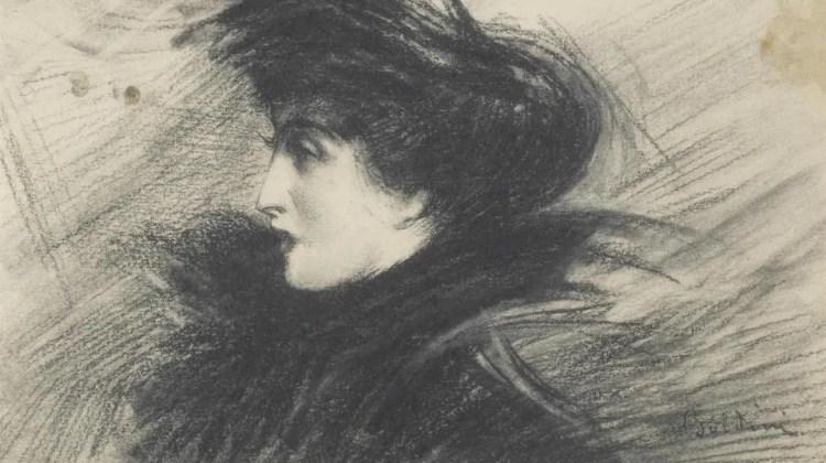 Giovanni Boldini (1842-1931) Portrait of Lina Cavalieri