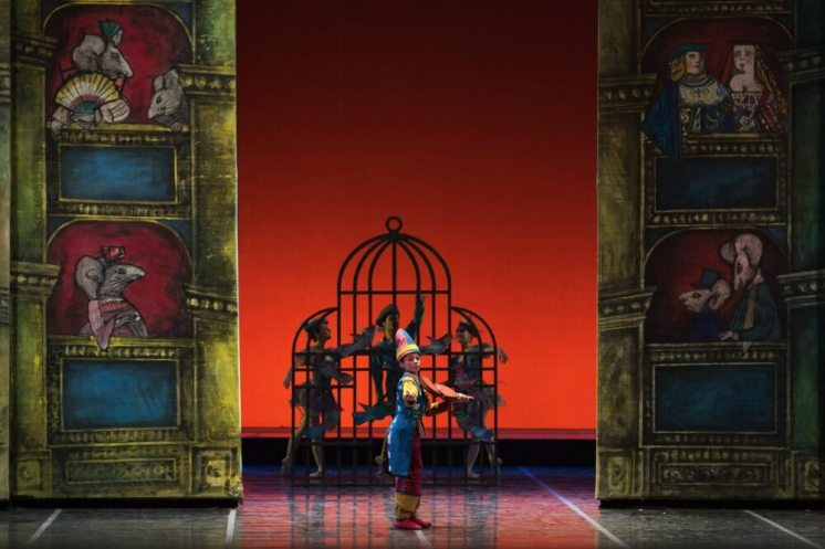 Lorenzo Cornacchione as the Violinist in The Nutcracker photo by Yasuko Kageyama, Opera di Roma 2014