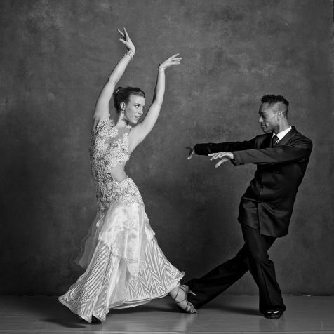 Abdiel Cedric Jacobsen with partner Kelsey Burns in a Smooth Ballroom Foxtrot photo by NYC Dance Project