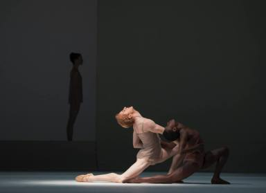 Chroma by Wayne McGregor with Lauren Cuthbertson, Steven McRae and Rachael McLaren © ROH, 2016, photographed by Andrej Uspenski