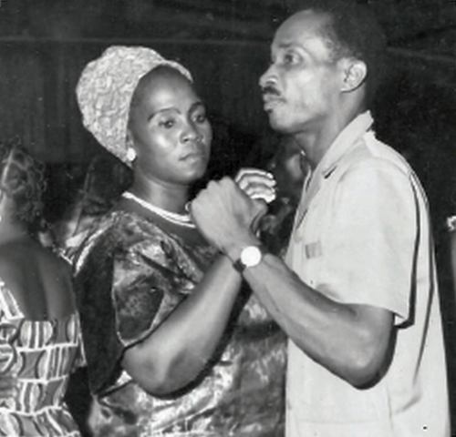 Grandparents in the Ivory Coast dancing the Foxtrot circa 1965