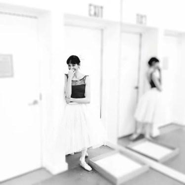 'Goofing in rehearsal...', Boston Ballet studios, photo by Sabi Varga
