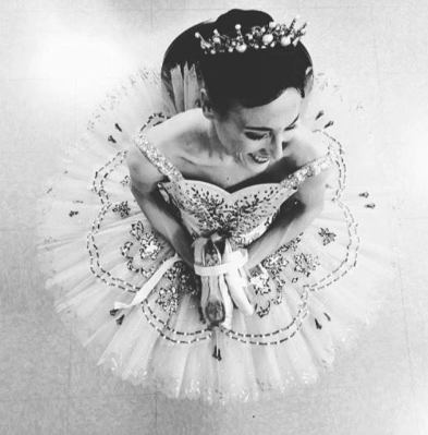 'Sitting chatting with the dressers after dancing Sugar Plum Fairy', Boston Ballet, photo by Sabi Varga