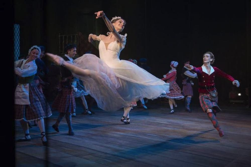 La Sylphide from the wings with Ella Persson and Julian MacKay, photo by Nicolai Krusser
