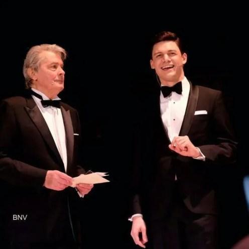 David Aladashvili hosting a show with Alain Delon