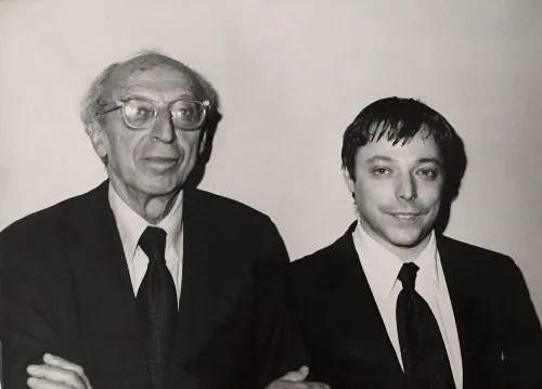 Aaron Copland and Michael Spierman in 1975