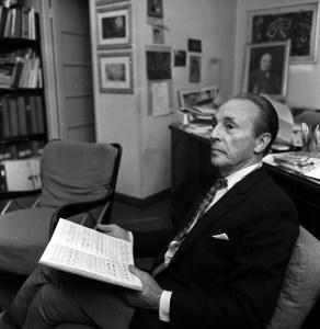 Balanchine at la Scala in 1965, photo by Erio Piccagliani