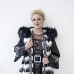 Diana Damrau in glamorous (faux) fur for her new album, Grand Opera