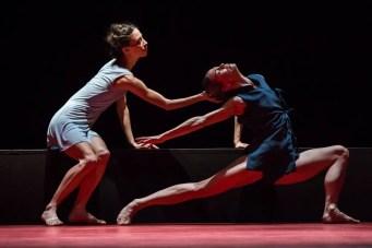 Eleonora Abbagnato and Rebecca Bianchi in Annonciation by Angelin Preljocaj, photo by R Yasuko Kageyama, Teatro dell'Opera, Rome