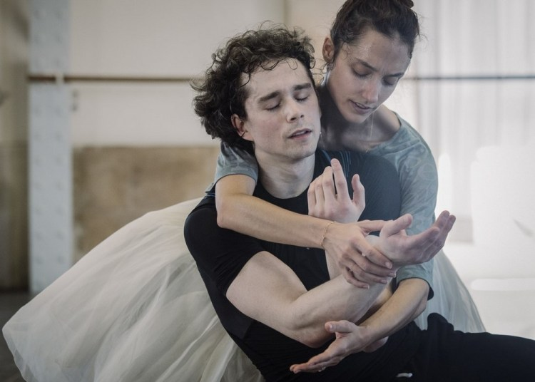 Dorothée Gilbert and István Simon rehearse Giselle, photo by Ann Ray Anne Deniau 3