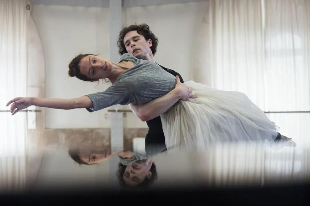 Dorothée Gilbert and István Simon rehearse Giselle, photo by Ann Ray Anne Deniau 5