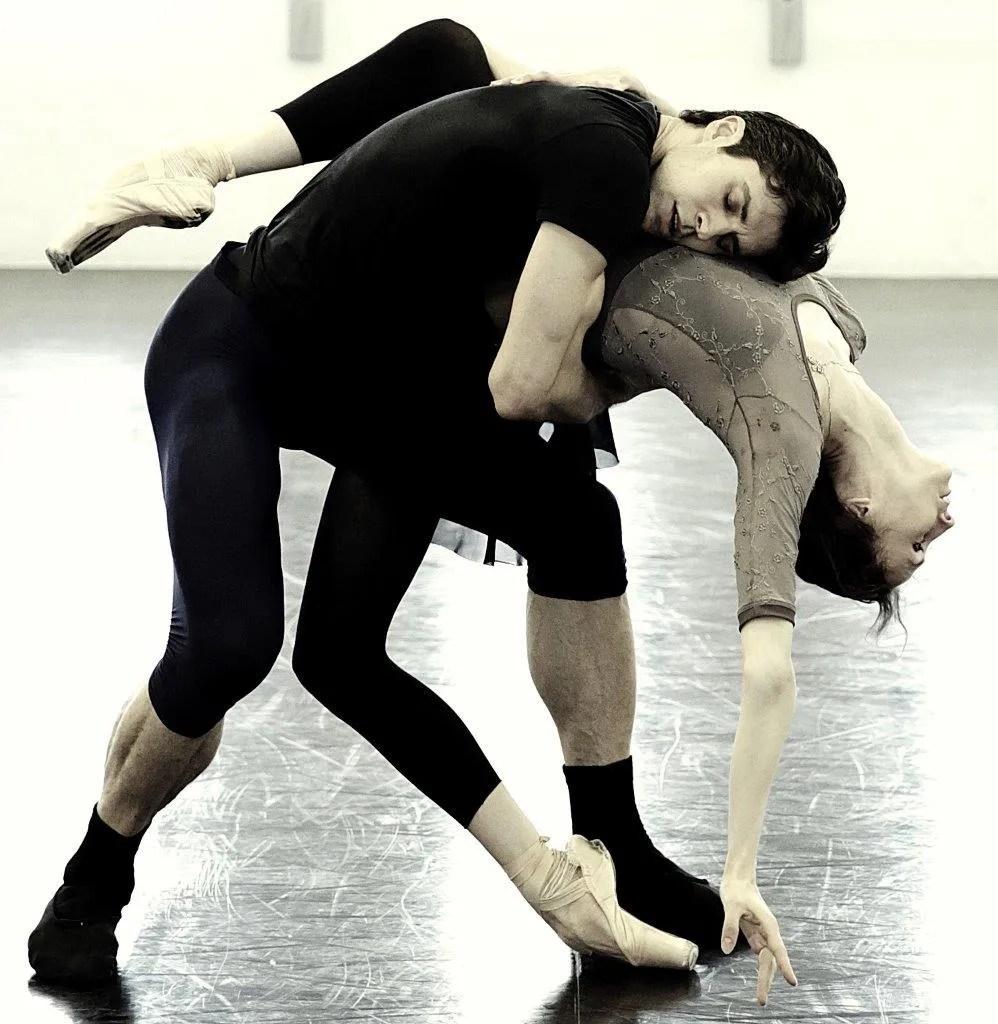 Progetto Handel Svetlana Zakharova and Roberto Bolle in rehearsal photo by Brescia and Amisano, Teatro alla Scala 5