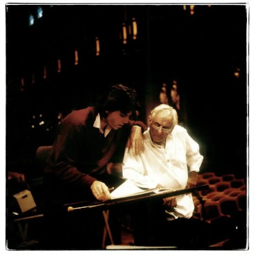 Thomas Hampson with Leonard Bernstein in Vienna in 1988