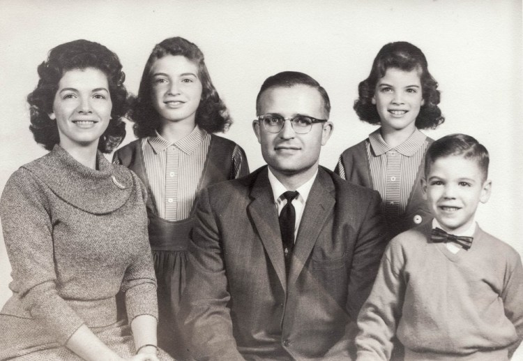 Young Thomas Hampson with his parents and siblings