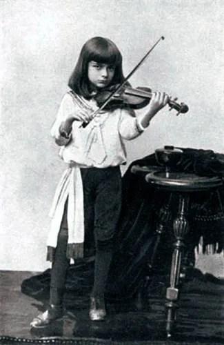 Bronislaw Huberman, child prodigy in 1889