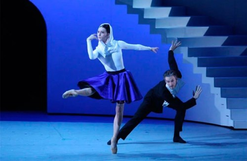 Olga Smirnova as Bianca and Artemy Belyakov as Baptista, photo by Elena Fetisova