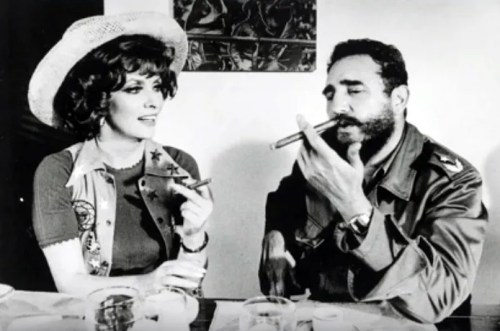Gina Lollobrigida with Fidel Castro
