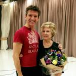 Dame Merle Park with the Royal Ballet's Gary Avis