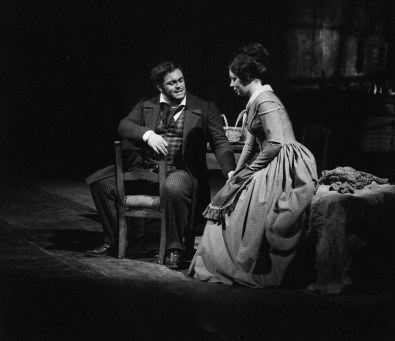 Luciano Pavarotti and Mirella Freni in La bohème 1969