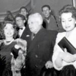 Maria Callas, La Scala's Intendant Antonio Ghiringhelli, and Giovanna Lomazzi leaving the premiere of La Dolce Vita in Milan, 1960 x