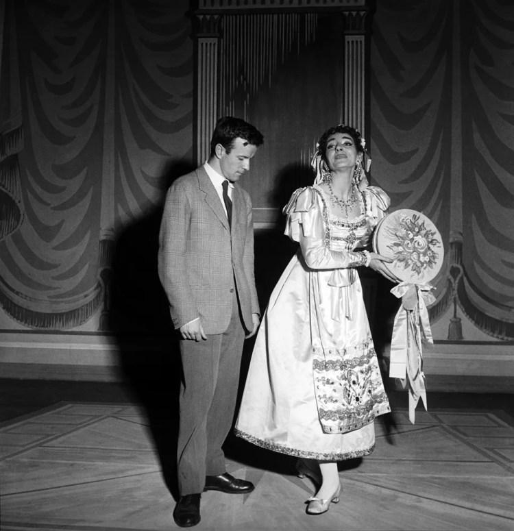 Maria Callas at La Scala, Il turco in Italia with Franco Zeffirelli 1955