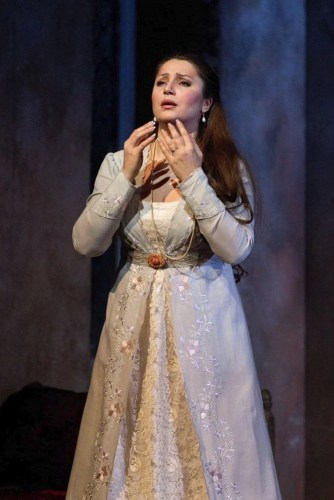 Barbara Frittoli as Amelia in Simon Boccanegra, photo by Marty Sohl, Metropolitan Opera, 2011