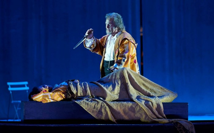 Gregory Kunde as Otello, photo by Matthias Baus, Teatro alla Scala 2015
