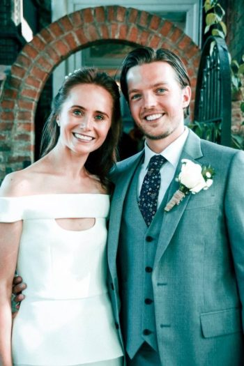 Joseph Caley's wedding day
