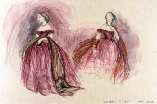La traviata, design by Gabriella Pescucci for Violetta, 1990
