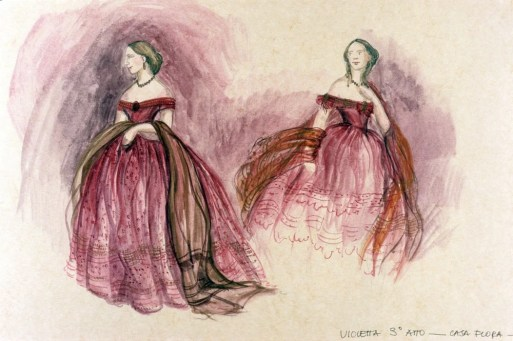 La traviata, design by Gabriella Pescucci for Violetta, 1990