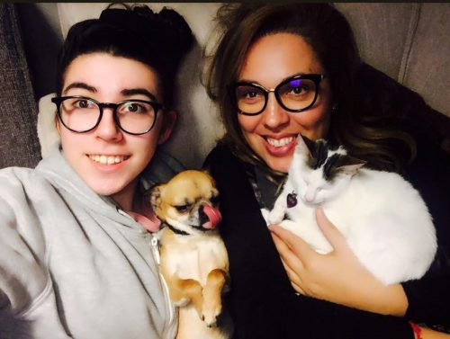 Maria José Siri with her daughter Sofia as well as Victor and Lolit