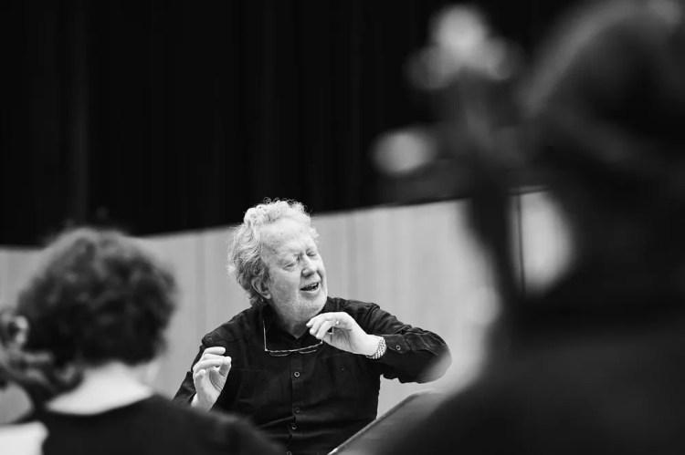 Rehearsing Les Troyens, John Nelson, © Grégory Massat