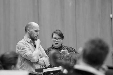 Rehearsing Les Troyens, Stéphane Degout and Marie Nicole Lemieux, © Grégory Massat
