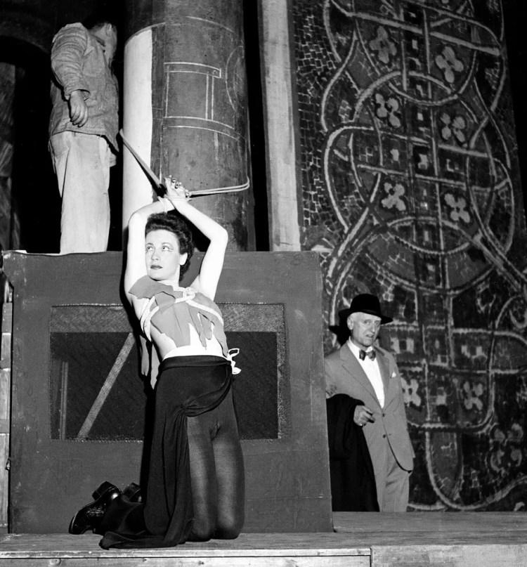 Victor de Sabata with mezzosoprano Luisa Ribacchi in Le Martyre de Saint Sebastien, 1951