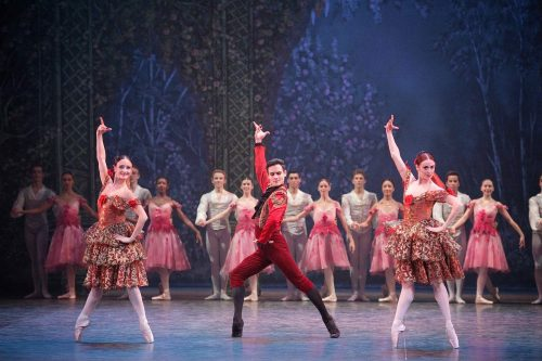 Adela Ramirez, Daniel McCormick and Anjuli Hudson in the Spanish Dance, Nutcracker © Laurent Liotardo