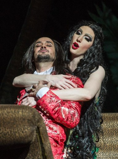 Amanda Majeski as Cleopatra in Giulio Cesare at Teatro Colón, with Franco Fagioli, 2017