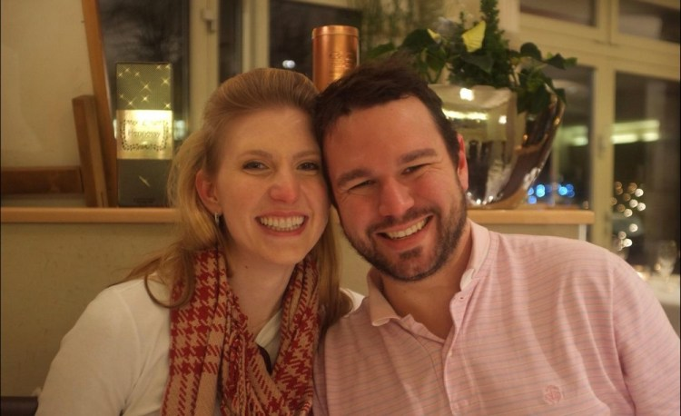 Amanda Majeski with her husband, bass baritone Sam Handley