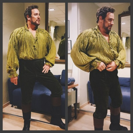 Backstage at the Toulouse Opera as The Count from Le nozze di Figaro 2016