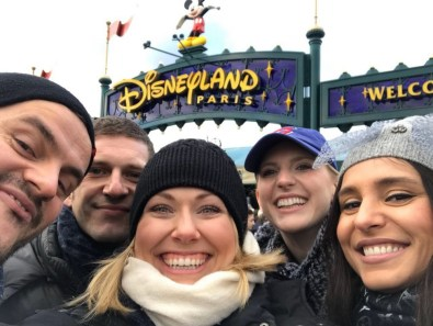 Disneyland Paris with the cast of La clemenza di Tito at Paris Opera, Marko Mimica, Valentina Nafornita, and Angela Brower