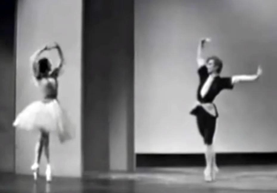 Margot Fonteyn and Rudolf Nureyev in the pas de deux from 'Gayane'