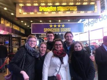 Spongebob Musical on Broadway with Met Così cast, Serena Malfi, Ben Bliss, and Adam Plachetka