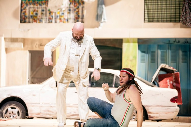 L'italiana in Algeri 2018, Peter Kálmán (Mustafà), Edgardo Rocha (Lindoro) © Salzburger Festspiele, Bernd Uhlig