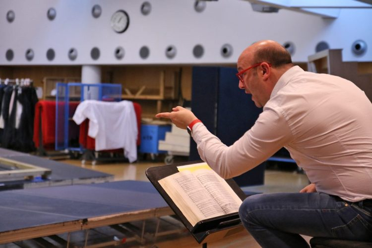Rehearsals with Carlos Álvarez and Javier Camarena for Rigoletto © Gran Teatre del Liceu Antoni Bofill, 2017